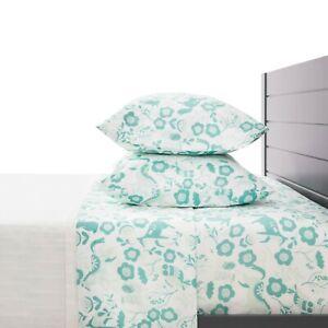 Seafoam Green Folktale Print Bed Sheets 4 Piece Set - Forest Animals Soft sheets
