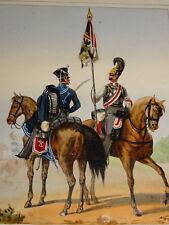 Litho COULEUR COSTUME UNIFORME MILITAIRE ARMEE PRUSSE PREUSSEN ALLEMAGNE 1830 c