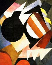 Russian French Avant Garde Art Colorful Ceramic Mural Backsplash Bath Tile #677