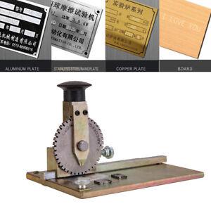 Manual Deboss Metal Embosser Label Dog Tag Stamping Embossing Marking Machine US