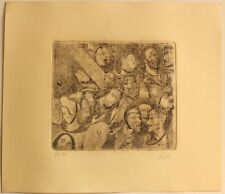 Etching OTTO DIX   signed by hand,gravure,radierung,aguafuerte