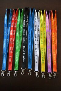 NEW PERSONALISED BUSINESS LANYARD NECK STRAP I D HOLDER SCHOOL CLUBS CHARITIES