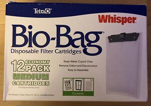 Tetra Whisper Bio Bag Filter Power Filters Cartridges Pack Of 12 Medium