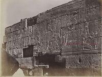 Egitto Karnak Foto Albumina IN Piccolo Formato 9,5x12,5cm C 1880