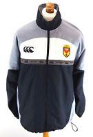 CANTERBURY NEWPORT RFC Mens Full Zip Jacket M Medium Grey Black Polyester Rugby