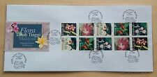 1997 Malaysia Highland Flowers Booklet Stamps on Private FDC (Melaka Cachet)