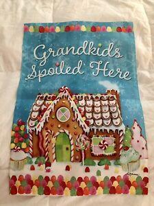 """""""Grandkids Spoiled Here"""" Garden Flag 18""""x13"""""""