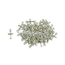 50Pcs Tibetan Silver Tone Celtic Cross Knot Charms Pendants Beads DIY Crafts