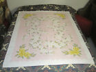 Vintage+SIMTEX+Floral+Cotton+Tablecloth+%28Yellow+Roses%2FWhite+Dogwood%29+52%22+x+64%22+