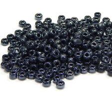 Rocailles Perlen 3mm Glasperlen Schwarz Metallic 450g Schmuck Seed Beads A127