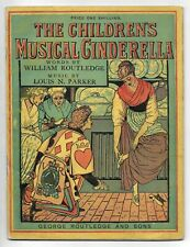 1879 WALTER CRANE Illustrated THE CHILDREN'S MUSICAL CINDERELLA w/ Signed Letter