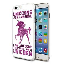 Hot Pink Awesome Unicorn Design Hard Back Case Cover Skin For Various Phones