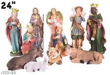 "24"" Tall El Nacimiento / Nativity Set 11 Pcs Complete (polyresin)New"