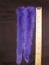 """New 2 Pc Purple Fox Tail 11"""" Long Decor Ornament New In Package"""
