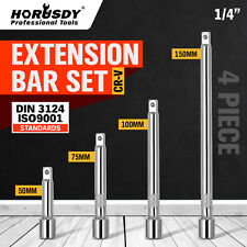 "4pc 1/4"" LONG Extension Extender Bar Set 2"" 3"" 4"" 6"" Drive Ratchet Wrench Socket"