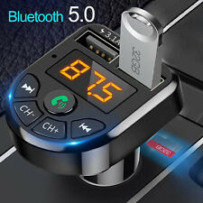 Bluetooth 5.0 Aux Car Music Player Fm Transmitter Wireless Handsfree Usb Charger