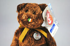 TY Beanie Babies Collectable IRELAND FIFA 2002 World Bear with Tag & Plastic
