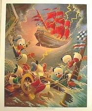 Beautiful 1990s Carl Barks/Uncle Scrooge Print- Afoul of Flying Dutchman (C1333)