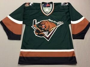 VINTAGE UTAH GRIZZLIES STITCHED ECHL MINOR LEAGUE HOCKEY JERSEY MENS SMALL