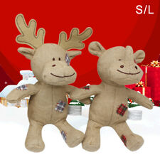KQ_ CW_ Pet Dog Cats Cute Elk Rhinoceros Shape Plush Doll Squeaky Interactive To