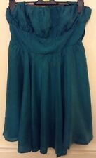 "Bnwt""Asos Petite""Size 14 Green Silk Evening Party Cocktail Halterneck Dress New"