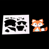 Fox Shape Metal Cut Dies Stencils for Scrapbooking DIY Album Card Decoration  LS