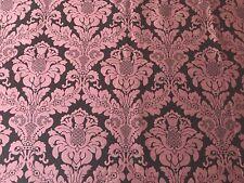 Rare Pink Brown Damask Scalamandre Decorator High Quality Fabric 4 Yards