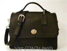 New Coach COURT BAG~Classic VINTAGE 2002~BLACK~CrossBody Shoulder~NWOT~NOS #9870