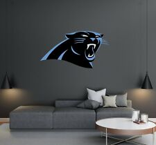 Carolina Panthers Logo Wall Decal - American Football Reusable House decoration.
