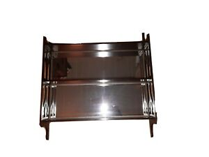 Mahogany What Not Hanging Wall Shelf Mirror Display Peirce Carved Victorian