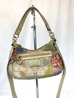 Coach F20761 Poppy daisy Shoulder Bag canvas Women