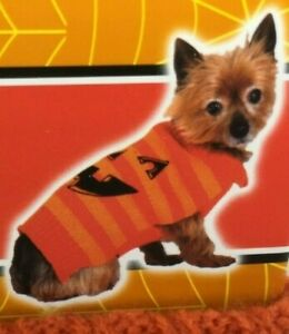 HALLOWEEN SPOOKY VILLAGE FOR PETS DOG PUMPKIN SWEATER COSTUME SIZE XS, NEW TAGS