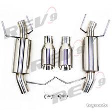 """Rev9 FlowMaxx Axleback Exhaust 4"""" Stainless Dual Tip for Mustang V6 3.7L 11-14"""