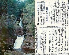 USA - The Upper and the Lower Falls at Buck hill Falls, Penna (S-L XX145)