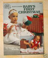 Baby's First Christmas Knitting Crocheting Book NEW