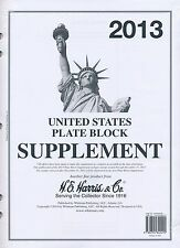 H E Harris US PLATE BLOCK Supplement for Stamp issued in 2013