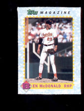 1990 Topps Magazine BEN MCDONALD Baltimore Orioles Card Rare