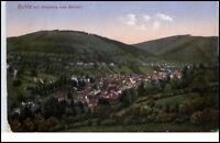 Ruhla Thüringen Postkarte ~1930/40 Gesamtansicht mit Ringberg und Bermer