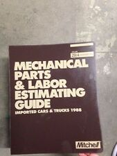 Mechanical Parts & Labor Estimating Guide Imported Car & Truck December 1988