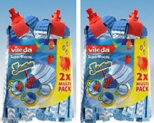 4 Refills Vileda SuperMocio 2 x twin pack Replacement Mop Head Refill