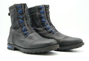 Diesel Herren Boots Schuhe EUR42 Schwarz Leder Stiefel #1021