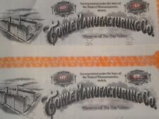 4 Towle Manufacturing Co.Stock Certificates    Free Shipping !!