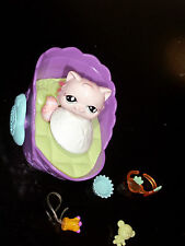 Littlest Pet Shop Magic Motion Magnetic Cat/Kitty Purple Bed  Accessories + More