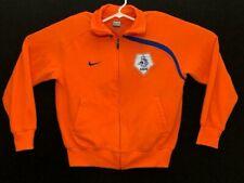 Men's Nike Nederland World Cup Olympics Orange Blue Netherland Track Jacket Sz L