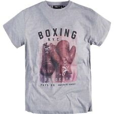 Replika Jeans Boxing N.Y.C T-Shirt/Grey - 4XL WAS £35.00, NOW £16.00