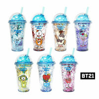 BTS BT21 Official Authentic Goods Glitter Cold Cup Tumbler Summer Dolce Ver