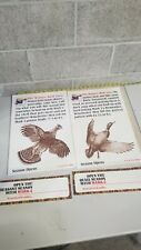 4 Lot Vintage Winchester season opens Paper Poster Advertising Sign