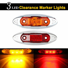 4*Red +Amber Universal LED Side Clearance Markers lights for Truck Trailer Boat