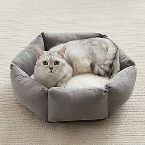 Western Home Cat Beds for Indoor Cats Dogs Kitty Puppy Kitten Bed Round Soft ...