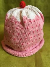 43f3e1205cc MERRY BERRIES Pink cupcake Hand Knitted 100% Cotton Baby Hat BN 12-24 months